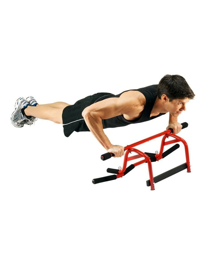 Portable 91cm Elevated Fitness Bar in Red image 4