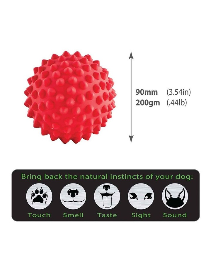 Catch Spike Ball Throw/Fetch Tough Hard Floating Toy for Dogs Red 9cm image 5