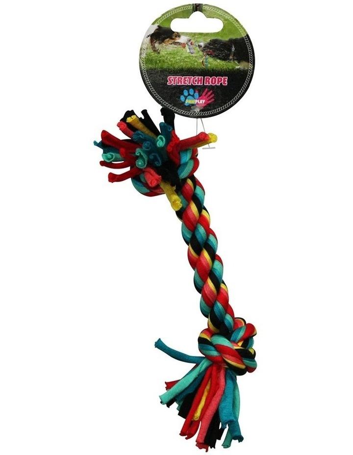 Stretch Bone Rope Cotton Knots/Braided Teeth Clean Tug War Dog Toy 21cm image 1