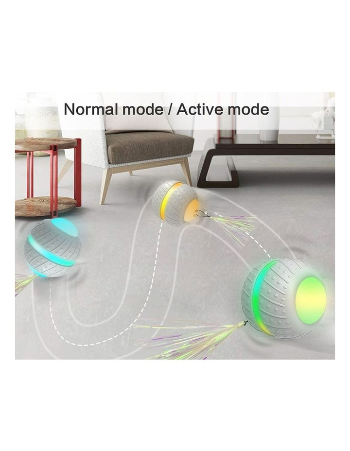Smart Wheel Jumping Interactive Rechargeable Cats Ball Pet Play Toy LED image 3