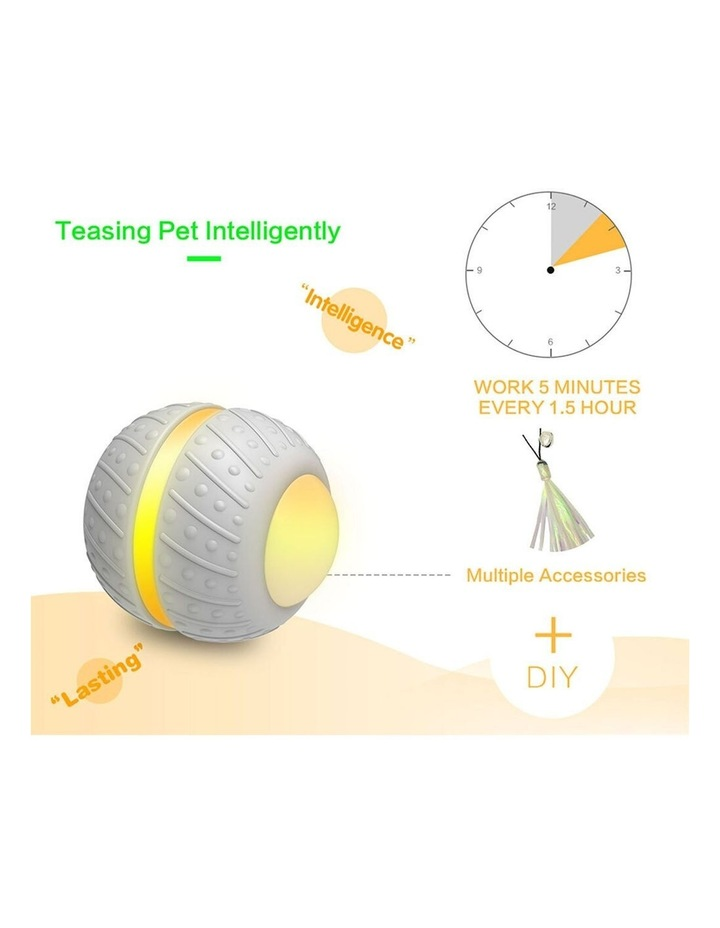 Smart Wheel Jumping Interactive Rechargeable Cats Ball Pet Play Toy LED image 5