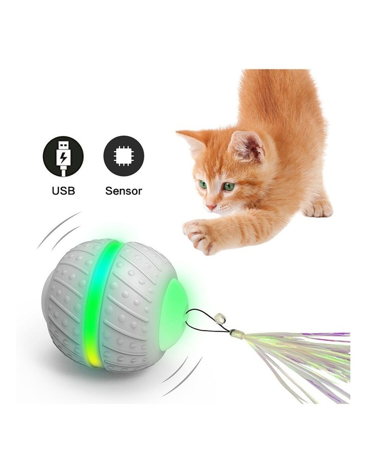 Smart Wheel Jumping Interactive Rechargeable Cats Ball Pet Play Toy LED image 6