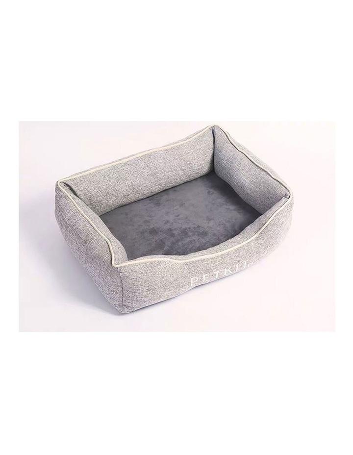 Four Season Memory Foam Pet Cat Dog Sleeping Cushion Bed Medium Grey 65cm image 2