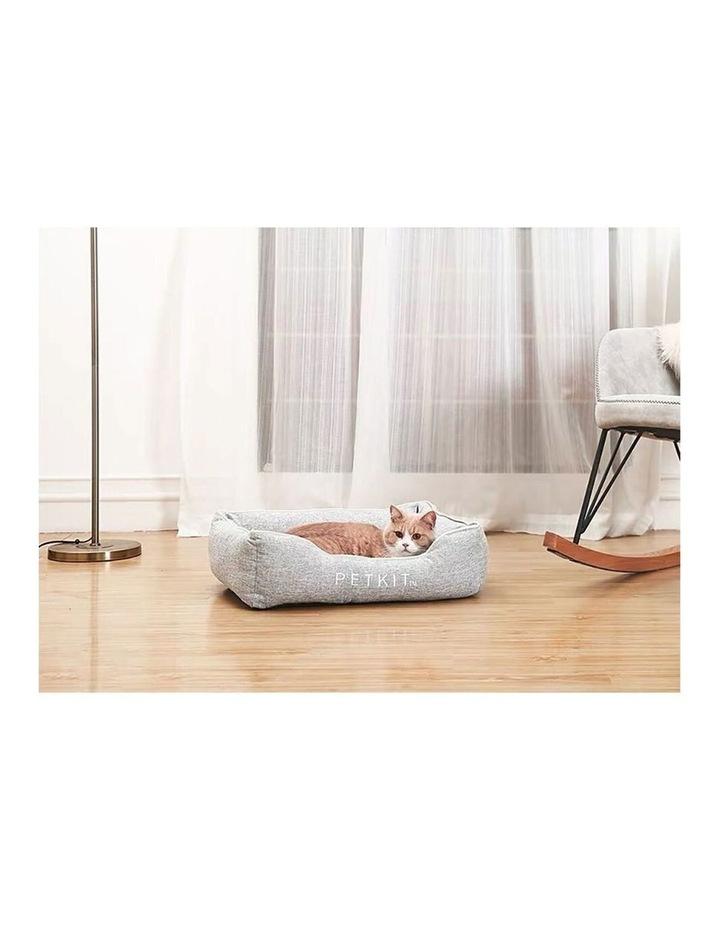 Four Season Memory Foam Pet Cat Dog Sleeping Cushion Bed Medium Grey 65cm image 4
