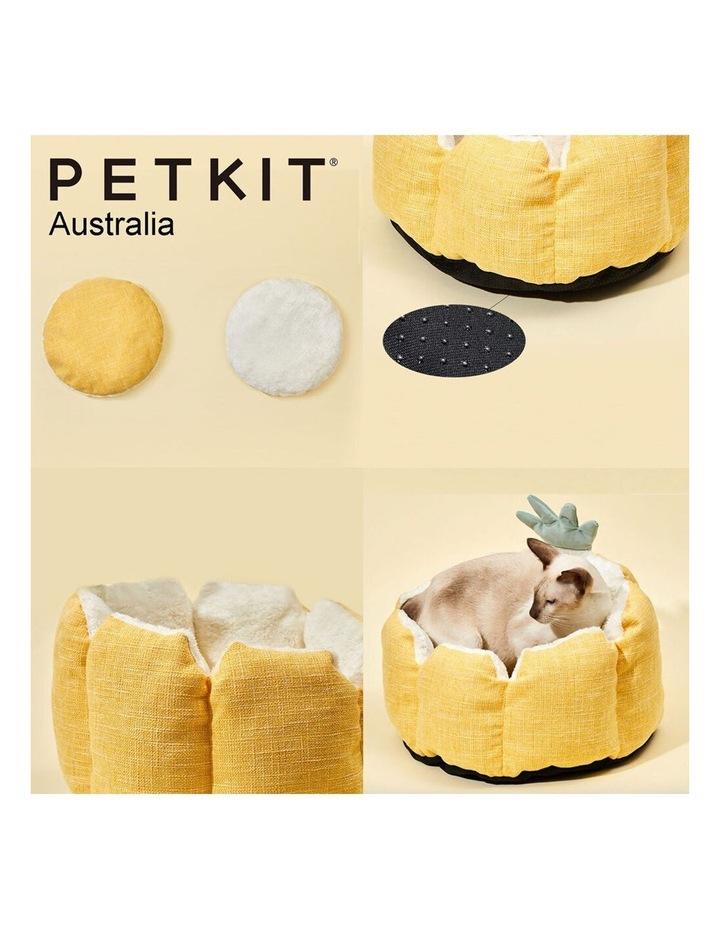 Four Season Pet Cat/Puppy Comfort Sleeping Cushion Bed Pineapple Yellow 40cm image 3
