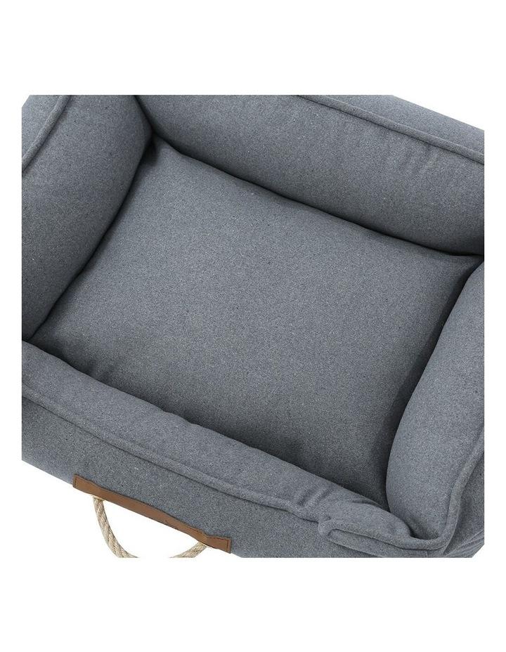 Lighthouse Pet/Dog  Walled Foam Cushion Bed Grey Speckle Medium 60cm image 5