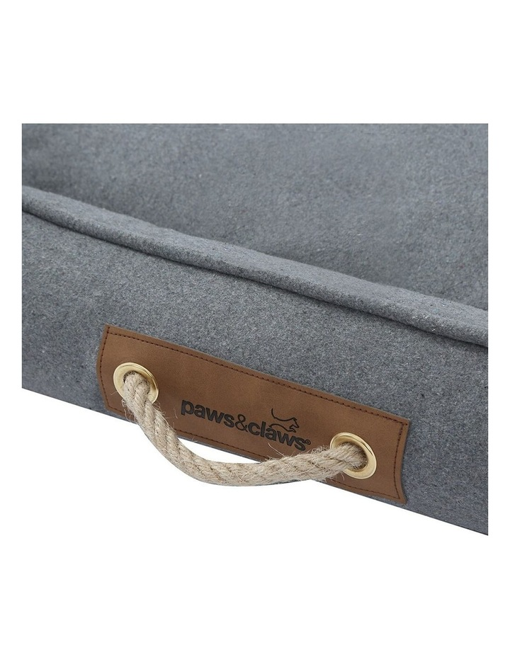 Lighthouse Pet/Dog  Walled Foam Cushion Bed Grey Speckle Medium 60cm image 7