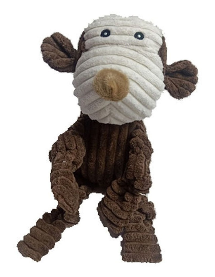 Monkey Pet Dog Chew Bite Toy Plush Squeak Teething w/ Squeaker 30cm image 1