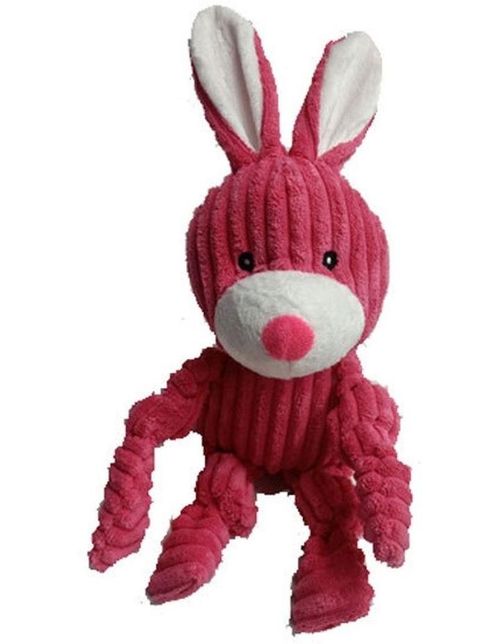 Rabbit Pet Dog Chew Bite Toy Plush Squeak Teething w/ Squeaker 33cm image 1