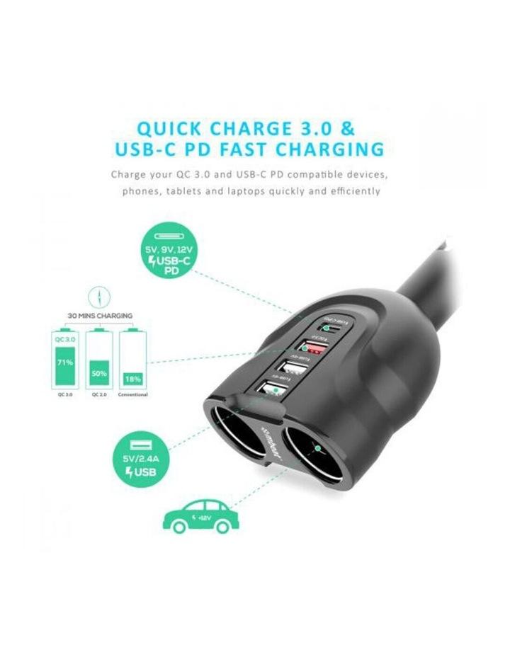 Gorilla Power 4 Port USB-C PD & QC3.0 Car Phone Charger image 2