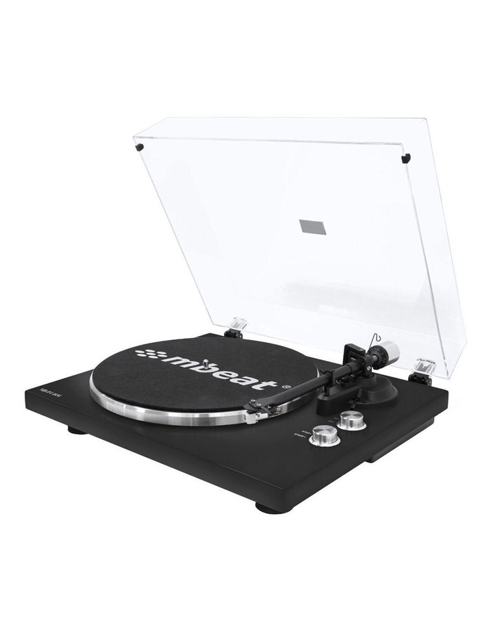 Matte Black 42cm Bluetooth Music Vinyl Turntable Record Player Speaker image 1