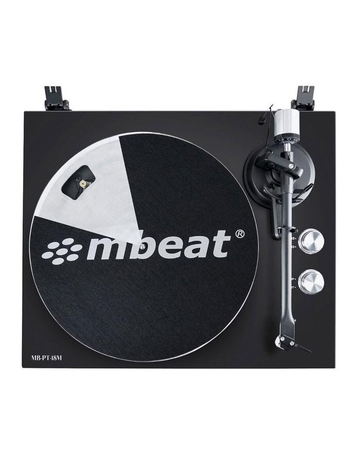 Matte Black 42cm Bluetooth Music Vinyl Turntable Record Player Speaker image 2
