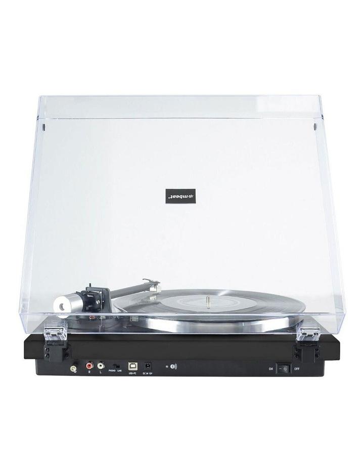 Matte Black 42cm Bluetooth Music Vinyl Turntable Record Player Speaker image 3