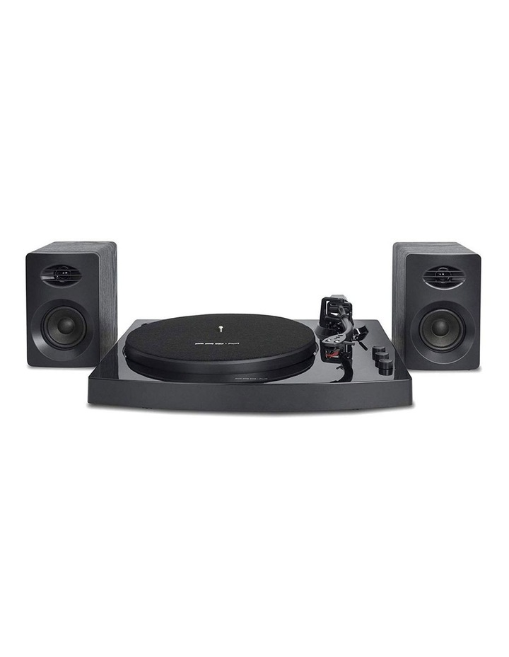 Black Pro-M Stereo Turntable Record Player System image 1