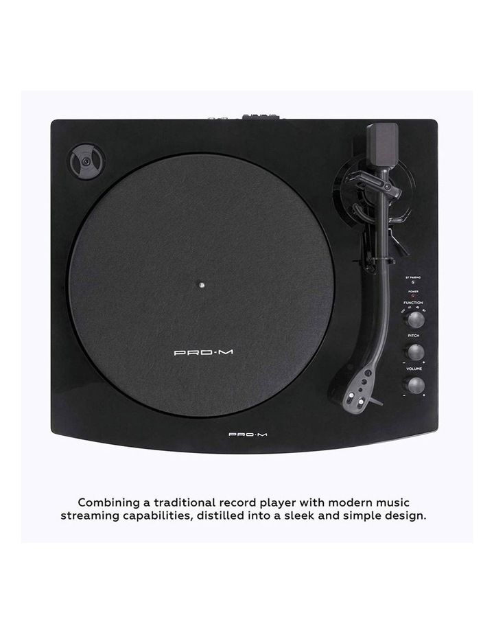 Black Pro-M Stereo Turntable Record Player System image 2
