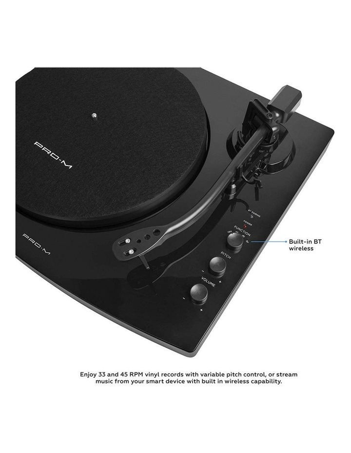 Black Pro-M Stereo Turntable Record Player System image 3