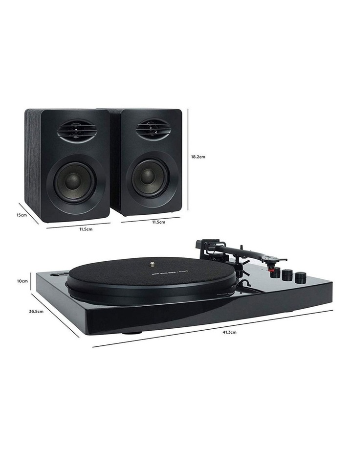 Black Pro-M Stereo Turntable Record Player System image 5