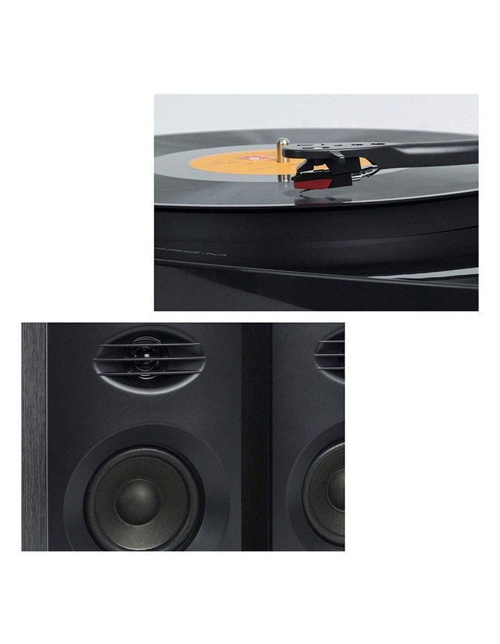 Black Pro-M Stereo Turntable Record Player System image 6