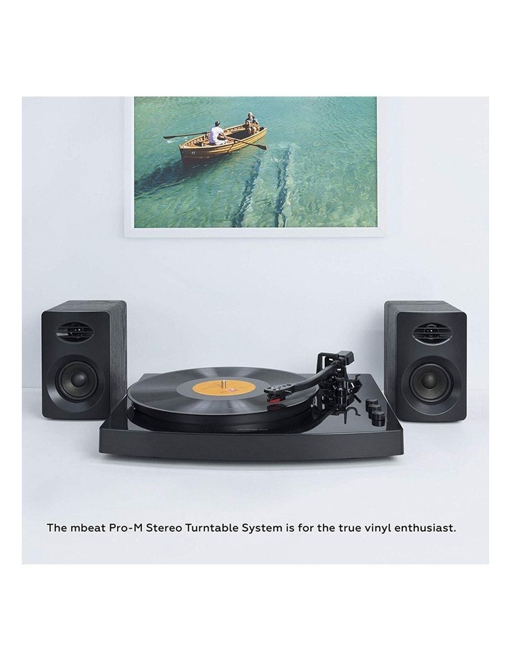 Black Pro-M Stereo Turntable Record Player System image 7