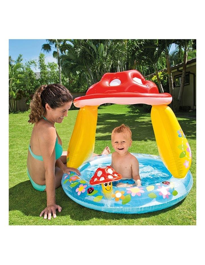 1.02mx89cm Mushroom Inflatable Kids Swimming Pool with Sunshade image 2