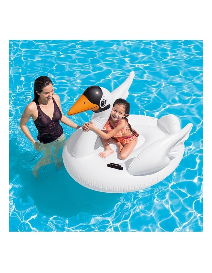1.3m Swan Kids Inflatable Ride-On Swimming Pool Floats Water Raft image 2