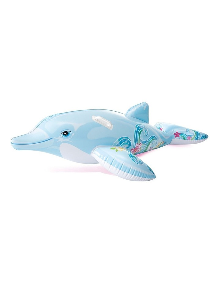 1.7m Dolphin Kids Inflatable Ride-On Swimming Pool Floats Water Raft image 1