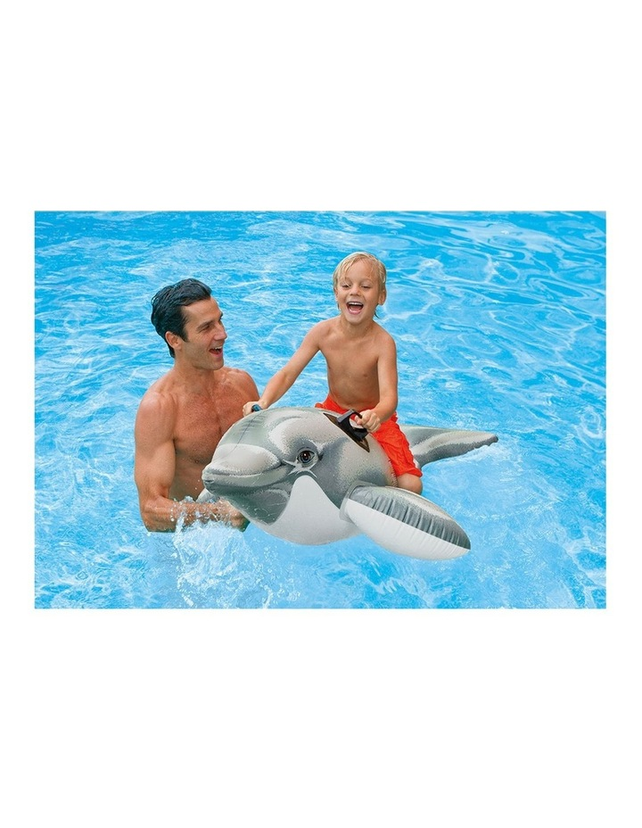 1.7m Dolphin Kids Inflatable Ride-On Swimming Pool Floats Water Raft image 2