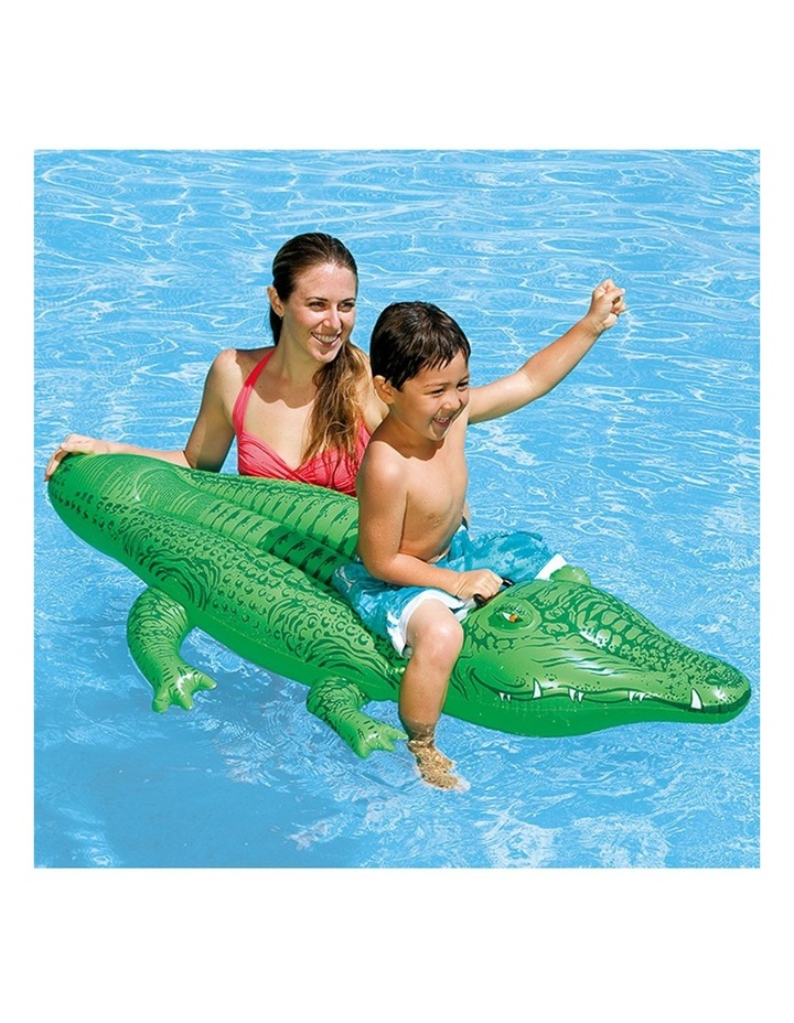 1.7m Lil Gator Kids Inflatable Ride-On Swimming Pool Floats Water Raft image 2