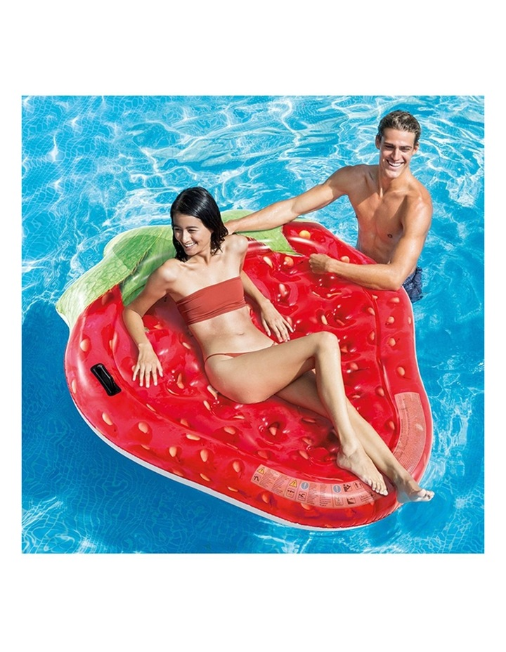 1.6m Strawberry Island Kids Inflatable Swimming Pool Float Water Raft image 2