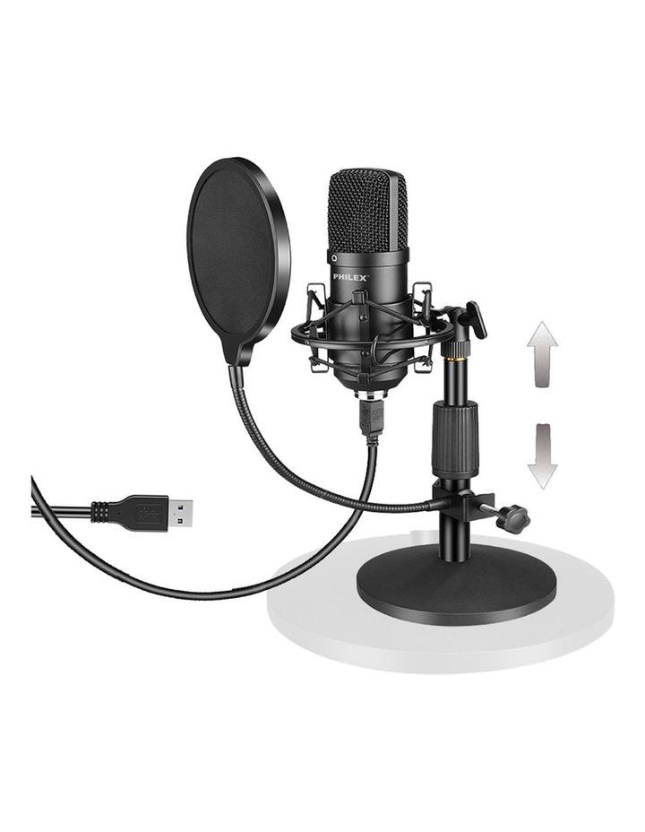 Audio Podcast/Broadcast Recording USB Condenser Cardioid Microphone image 1