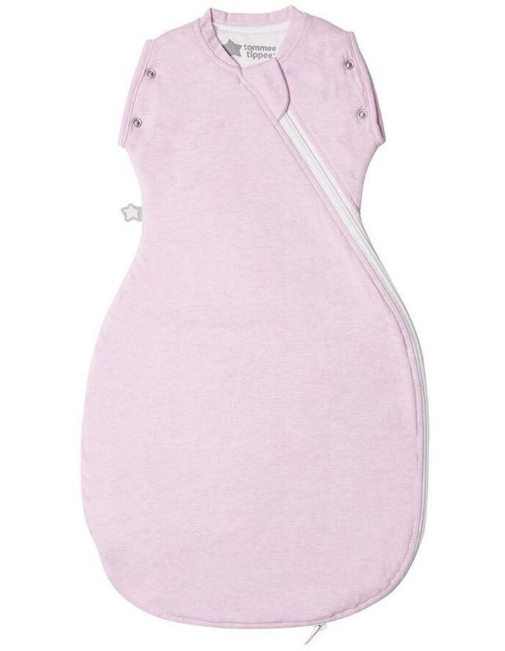 Grobag Baby Cotton 3-9M 2.5 TOG Snuggle Sleeping Bag Pink Marl image 1