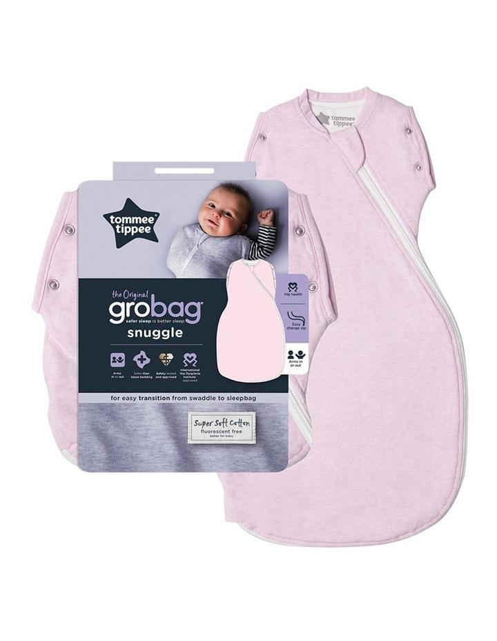 Grobag Baby Cotton 3-9M 2.5 TOG Snuggle Sleeping Bag Pink Marl image 2