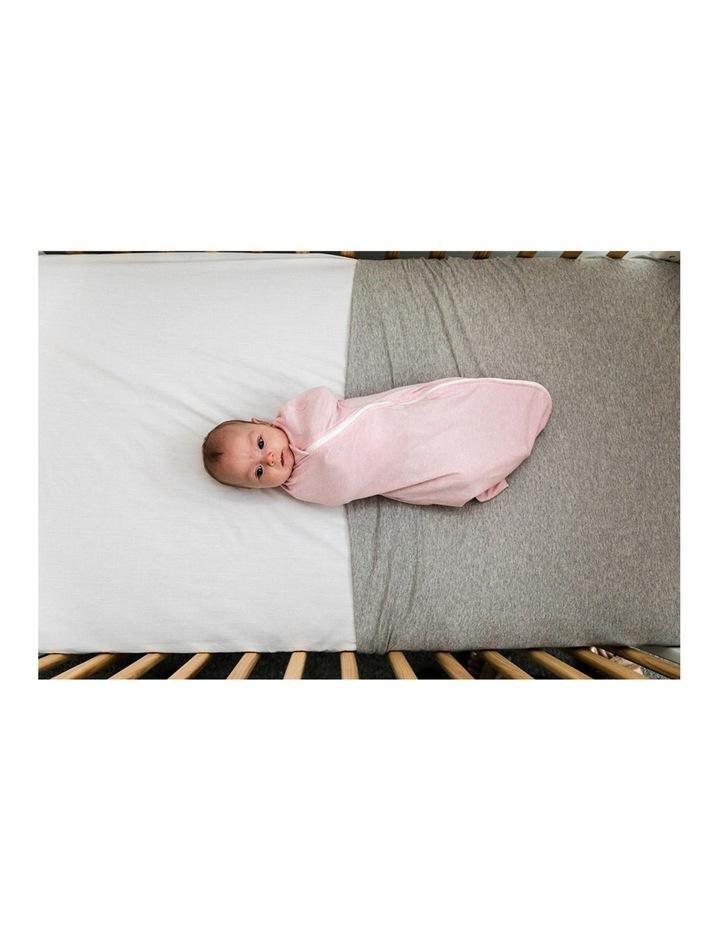 Grobag Baby Cotton 3-9M 2.5 TOG Snuggle Sleeping Bag Pink Marl image 4