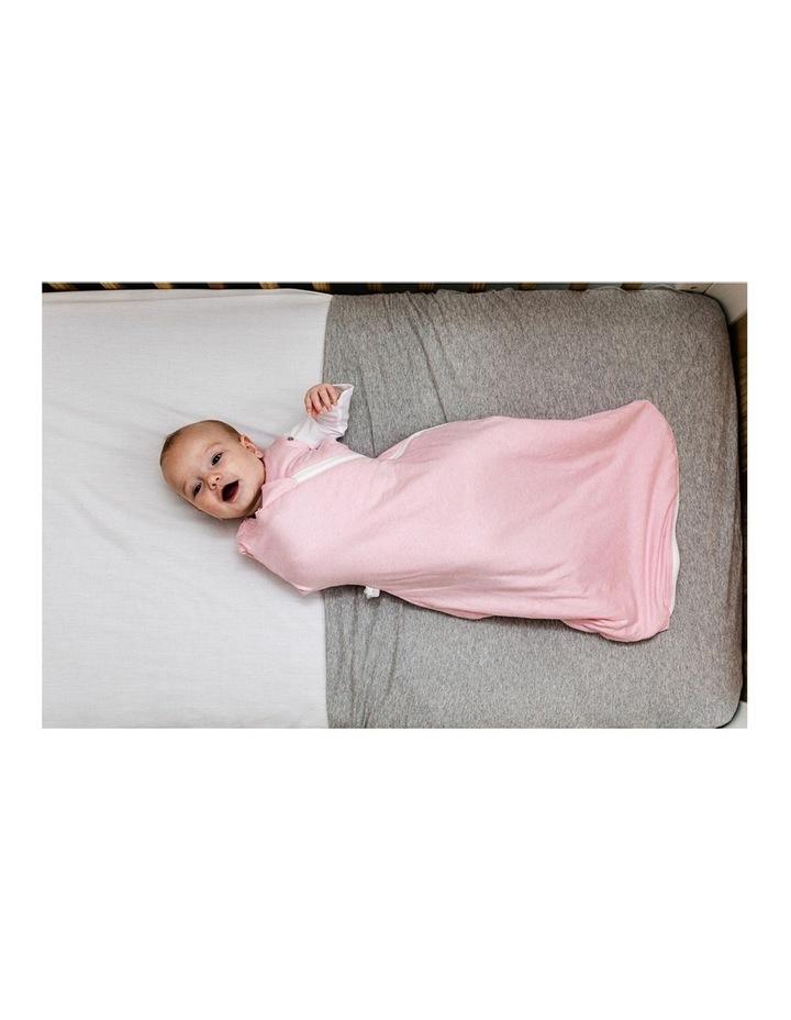Grobag Baby Cotton 3-9M 2.5 TOG Snuggle Sleeping Bag Pink Marl image 5