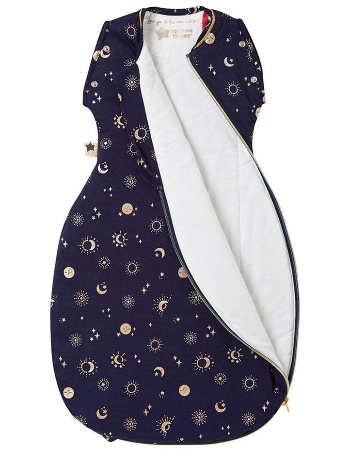 Grobag Baby Cotton 0-4M 2.5 TOG Snuggle Sleeping Bag Moon Child Blue image 3