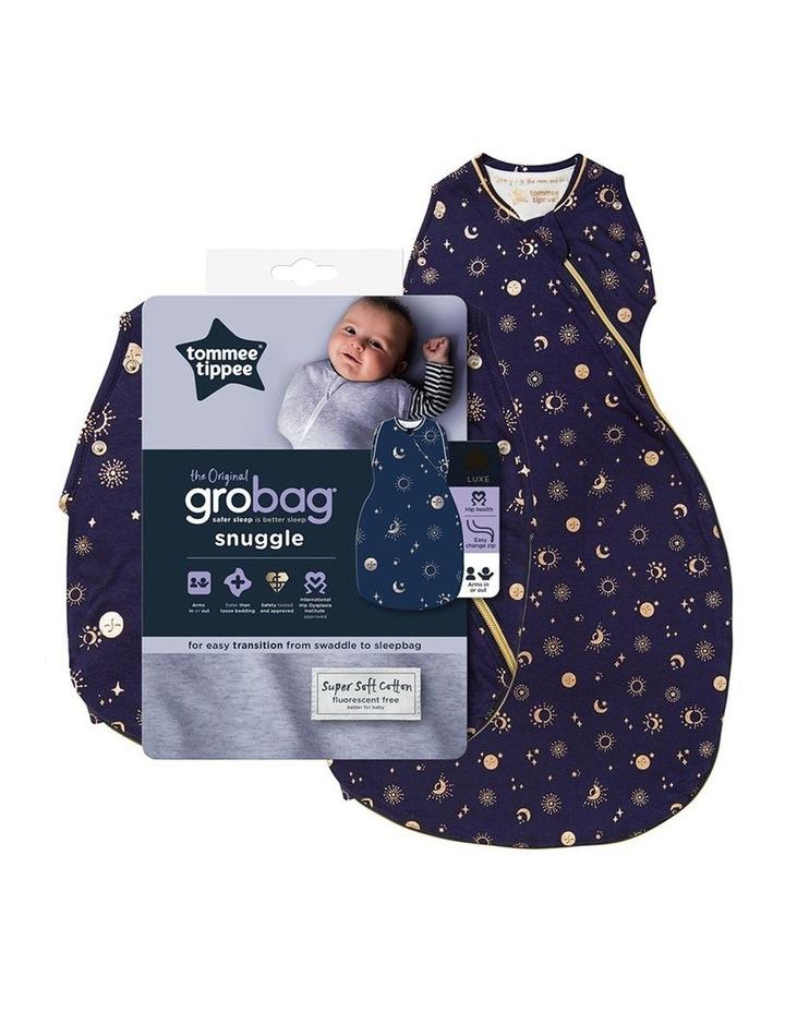 Grobag Baby Cotton 0-4M 2.5 TOG Snuggle Sleeping Bag Moon Child Blue image 4