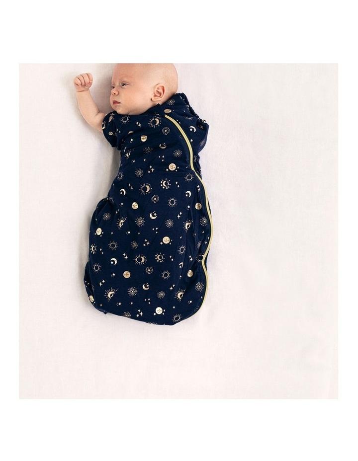 Grobag Baby Cotton 0-4M 2.5 TOG Snuggle Sleeping Bag Moon Child Blue image 6