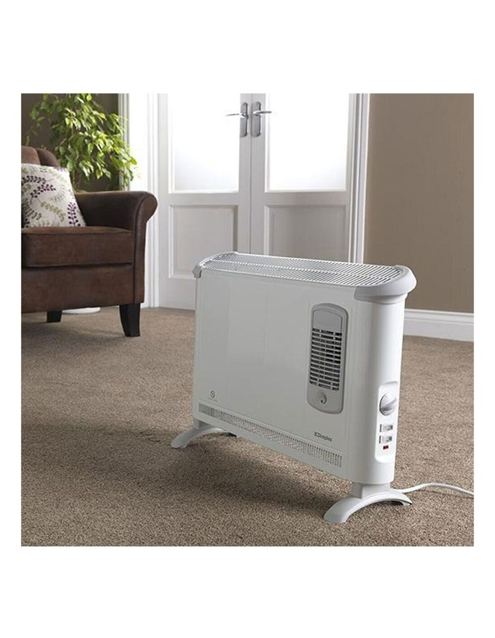 Portable Electric Floor Convector Heater w/Turbo Fan Heating  2000W White image 4