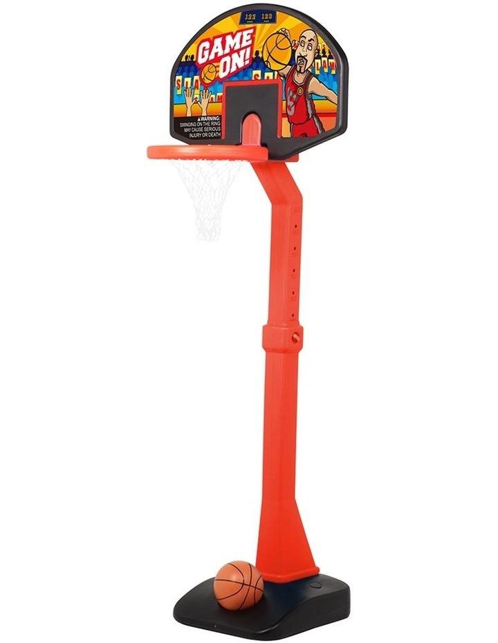 Height Adjustable Kids Freestanding Basketball Hoop Stand/Ball 1.76m 3years  image 1