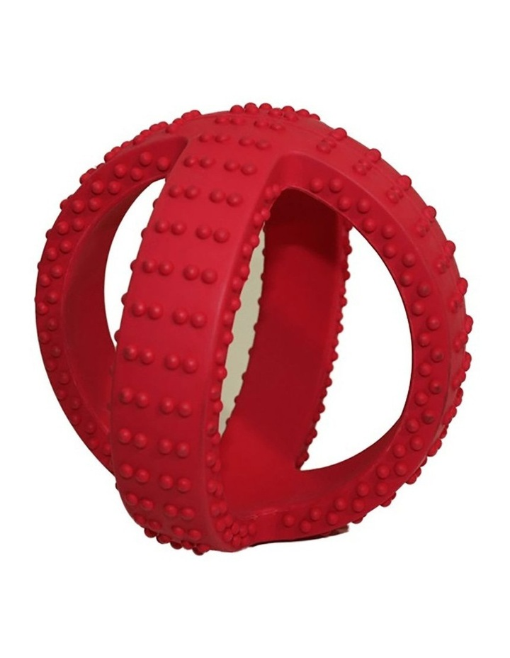 Super Cross Rubber Throw/Fetch Play Teething Dogs/Puppy Chew Ball Toy Red 10cm image 1