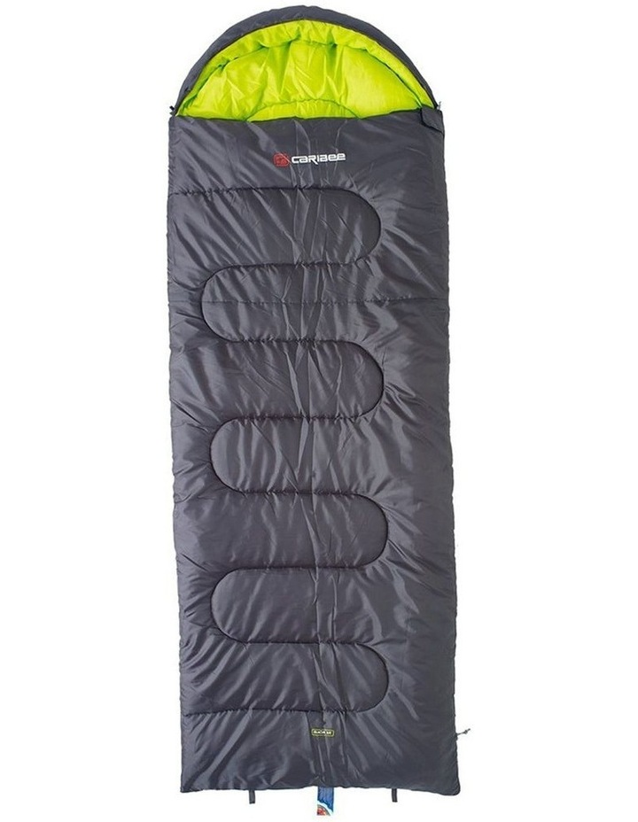 Glacial Bay Jumbo Sleeping Bag 0C For Camping/Hiking Charcoal 230cm - Grey image 1
