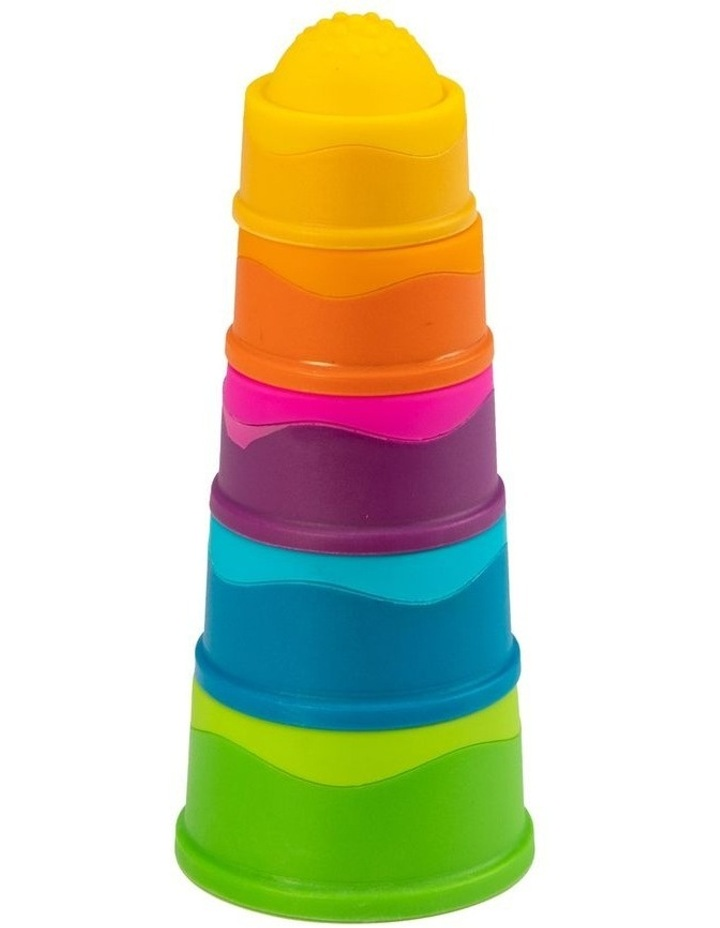 Dimpl Stack For 6m  Baby/Infants BPA Free Silicone Stacking Toy image 1