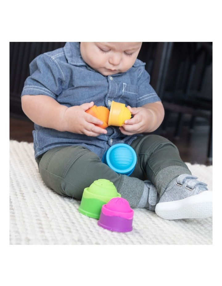 Dimpl Stack For 6m  Baby/Infants BPA Free Silicone Stacking Toy image 2