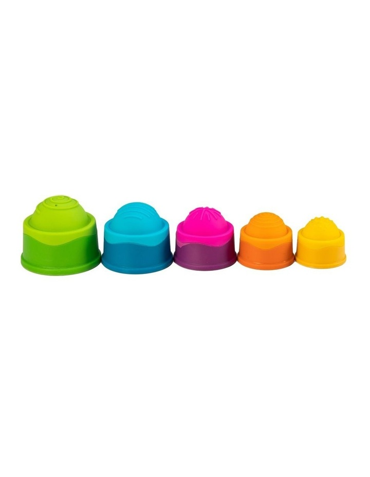 Dimpl Stack For 6m  Baby/Infants BPA Free Silicone Stacking Toy image 3