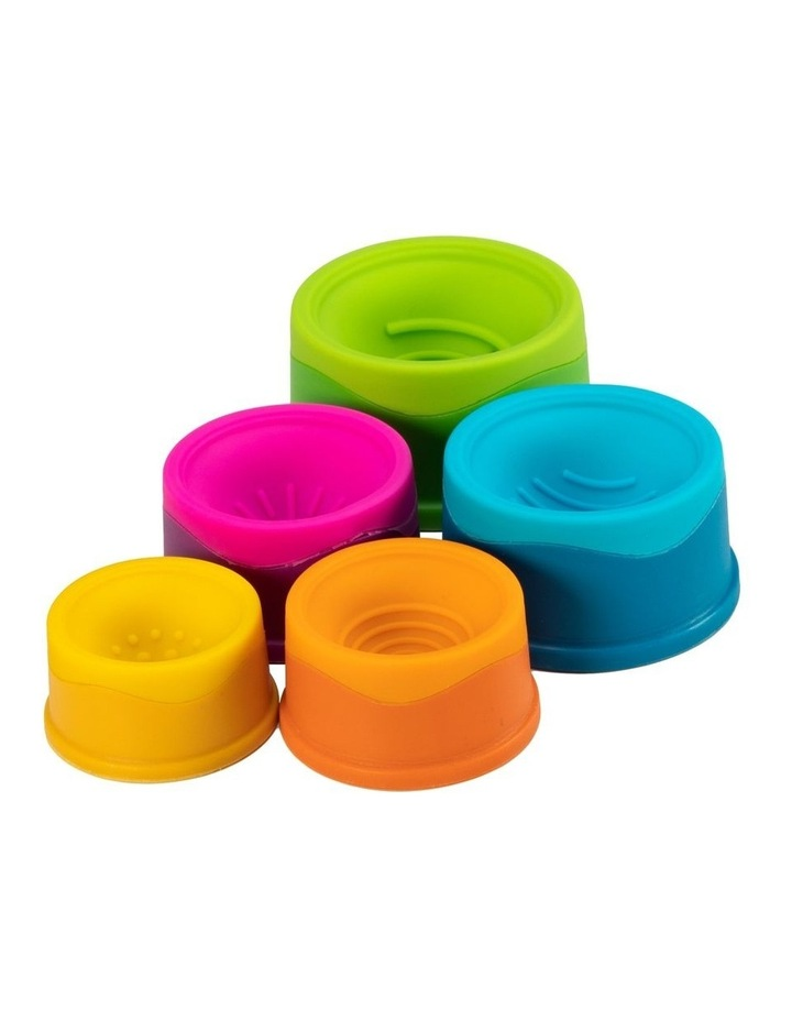 Dimpl Stack For 6m  Baby/Infants BPA Free Silicone Stacking Toy image 4
