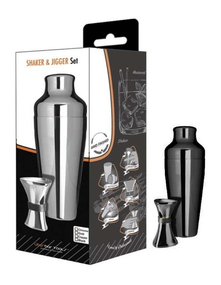 Shaker & Jigger Set Platinum Black image 1