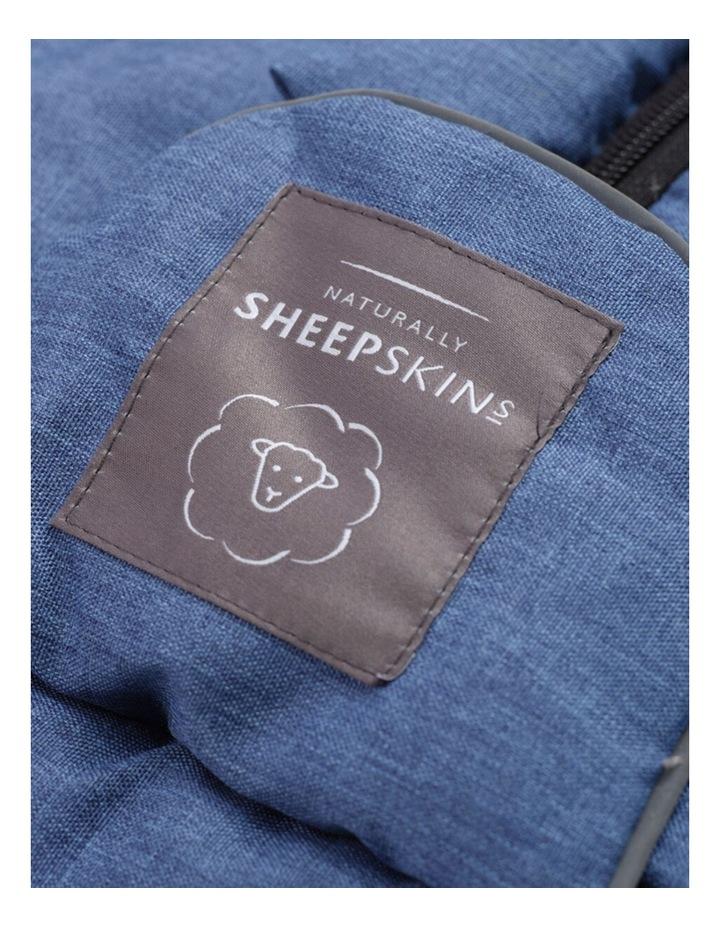 Weatherproof Fleece Footmuff (Universal Fit) - Linear Blue image 2