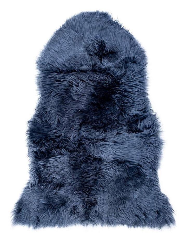 Long Wool Sheepskin Rug - Single - Steel Grey image 1