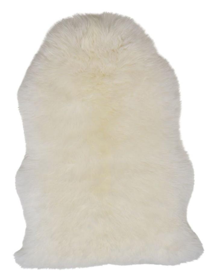 Long Wool Sheepskin Rug - Single - Ivory image 1