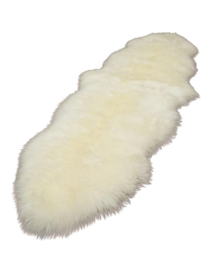 Long Wool Sheepskin Rugs - Double - Ivory image 1